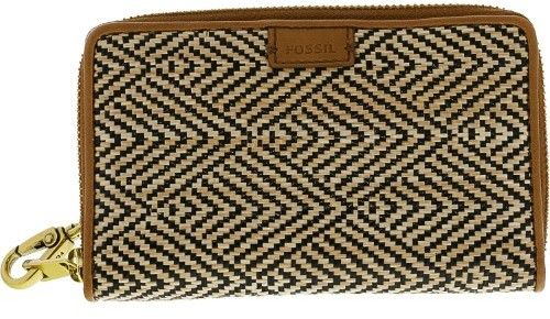 Fossil Women's Emma Smartphone Wristlet Leather Wallet - Natural