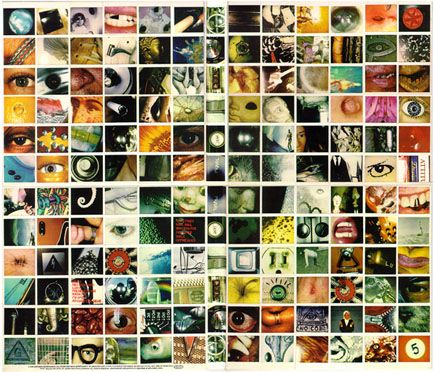 No Code is the 4th studio album by Pearl Jam, released on Aug. 27, 1996. The album package consists of 144 polaroid photos that unfold into a 2×2 square, and the pictures, when viewed from afar,blend to form the No Code triangle/eyeball logo that is the   theme throughout the album. One of the photos on the front cover is the eyeball of former Chicago Bulls player, as well as fan and friend of Pearl Jam, Dennis Rodman, while another photo is of Eddie's foot after he'd been stung by a…