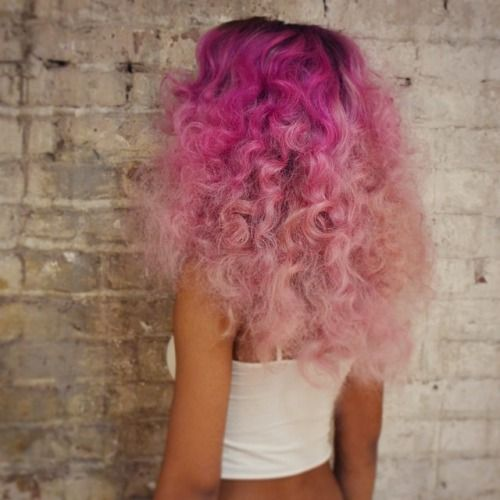 pink curls.#duh inspo curly