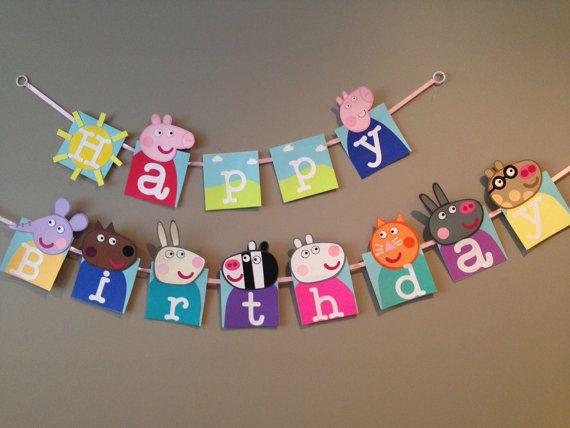 cartel happy birthday de peppa