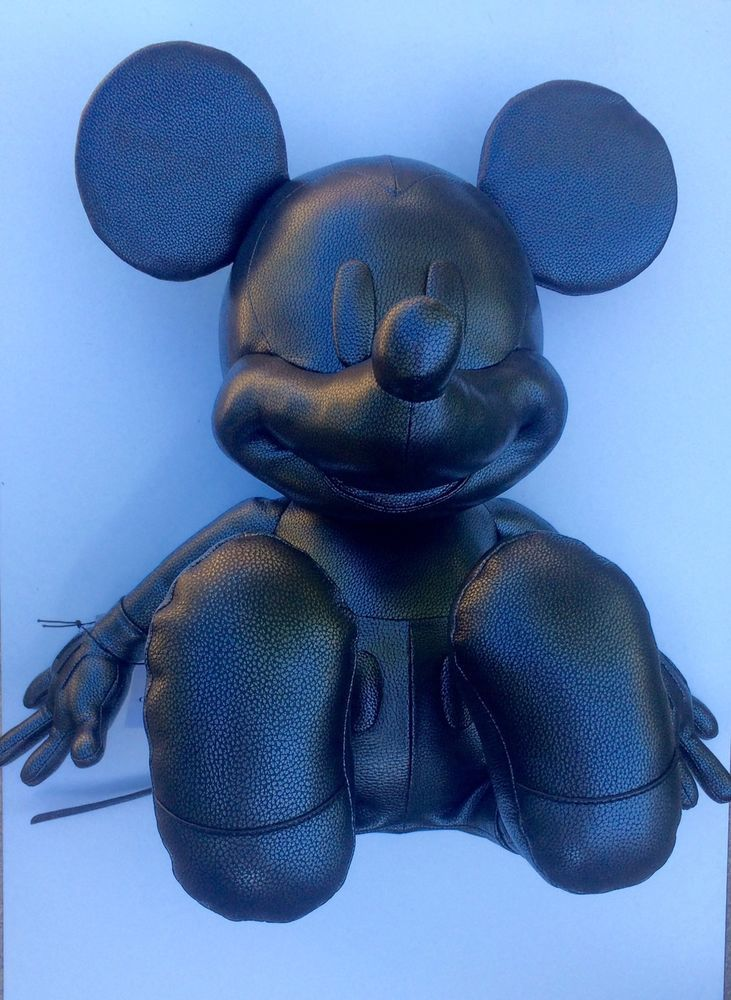 Disney X Coach Limited Edition Over 2FT TALL Leather Mickey Mouse Doll RARE NWT #COACH
