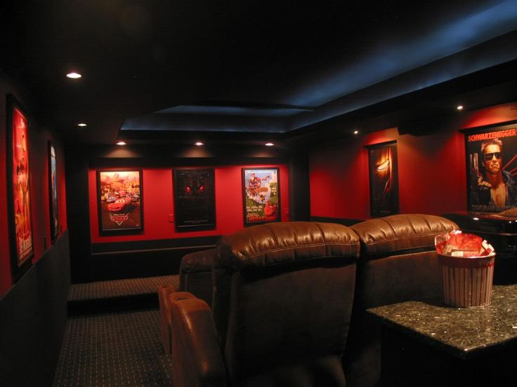 images about MOVIE Room ideas on Pinterest : Theater, Home theater ...