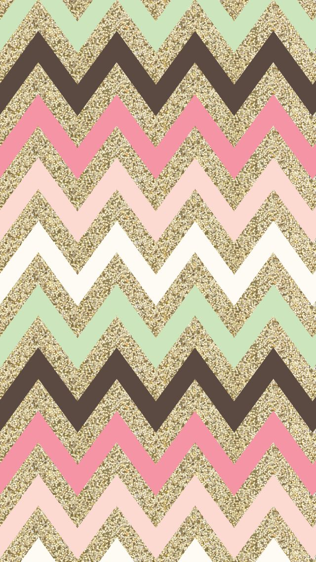 Glitter chevron iphone wallpaper lock home screen for Wallpaper glitter home