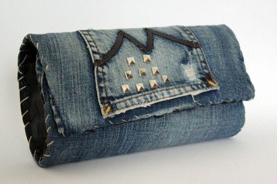 Pochette borchie argentate