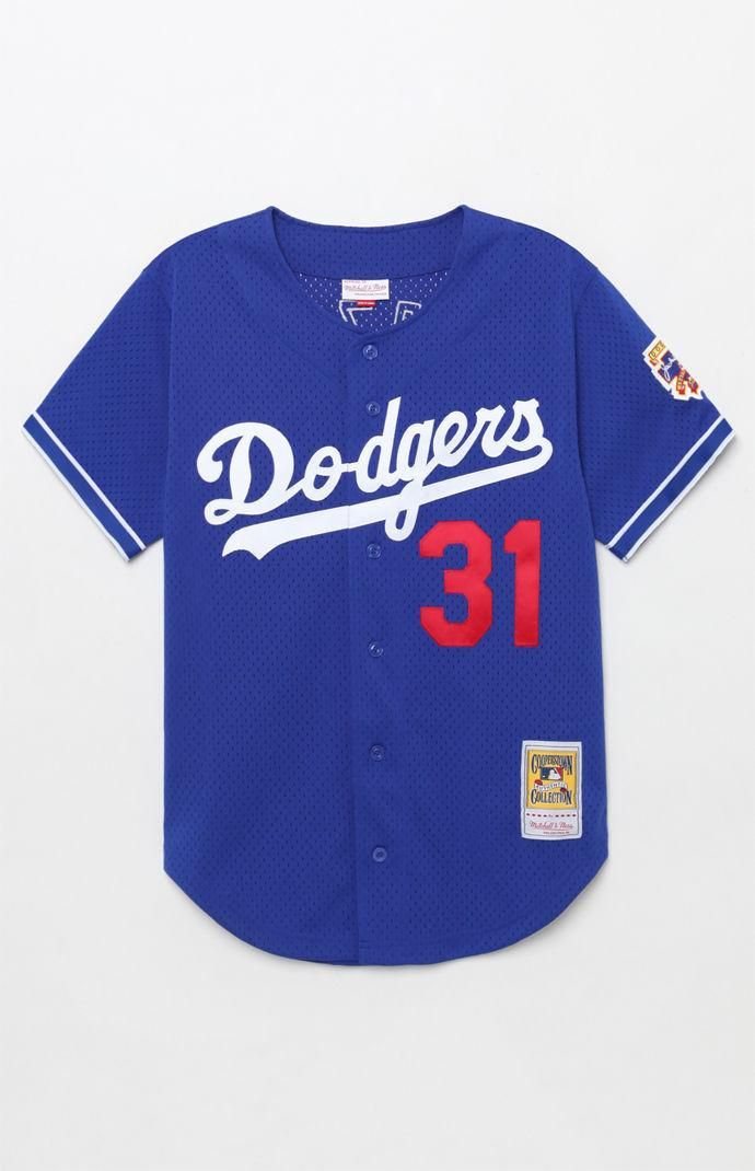 official photos be322 86bbe Mitchell and Ness Dodgers Piazza Jersey   PacSun--MEDIUM ...