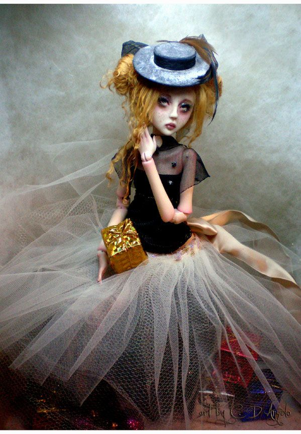 ginger for christmas ball jointed art doll by artist. Black Bedroom Furniture Sets. Home Design Ideas
