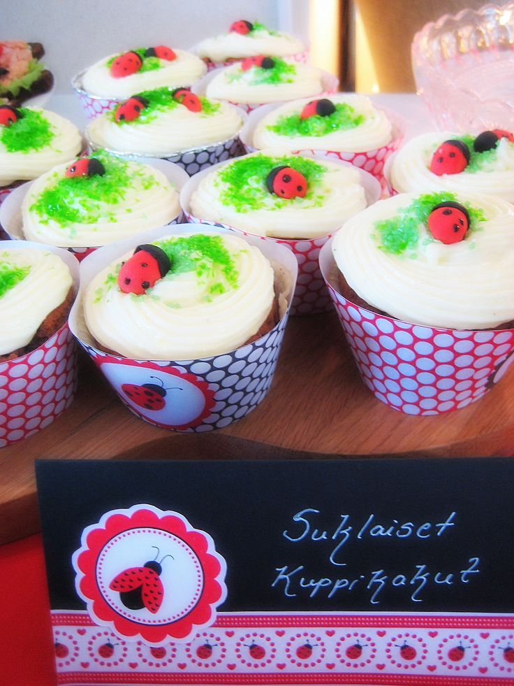 Ladybug cupcakes  Birthday party