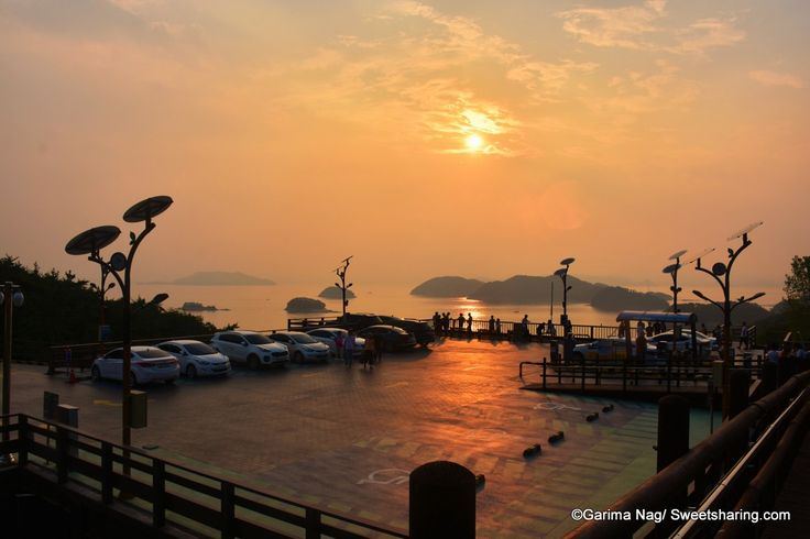 Breathtaking Sunset At Dara Park Tongyeong