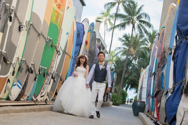 持込みドレスビーチフォト : ハワイのフォトツアー、フォトウェディング