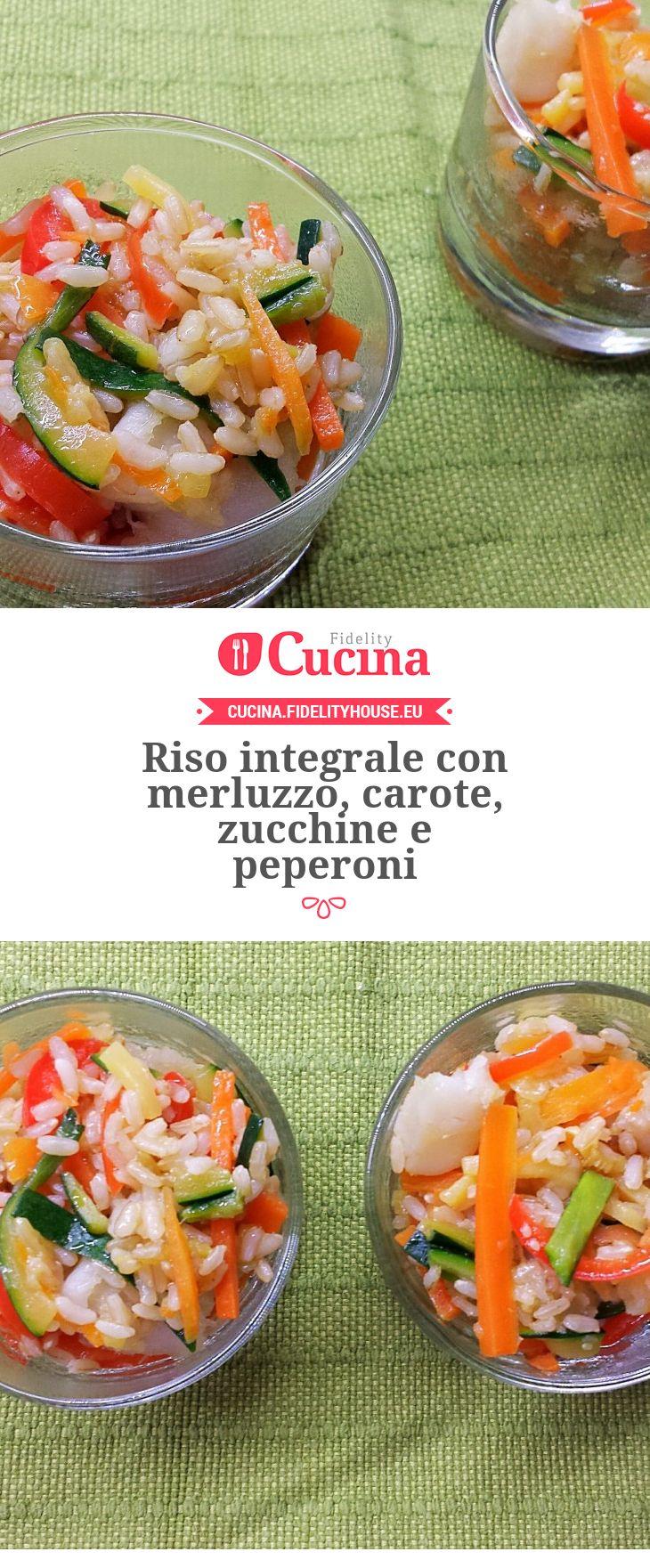 Riso integrale con merluzzo, carote, zucchine e peperoni della nostra utente Giada. Unisciti alla nostra Community ed invia le tue ricette!