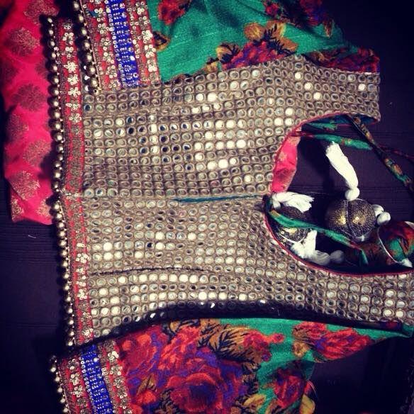 Sleeveless Mirror Work Bridal #Blouse By Ayush Kejriwal.