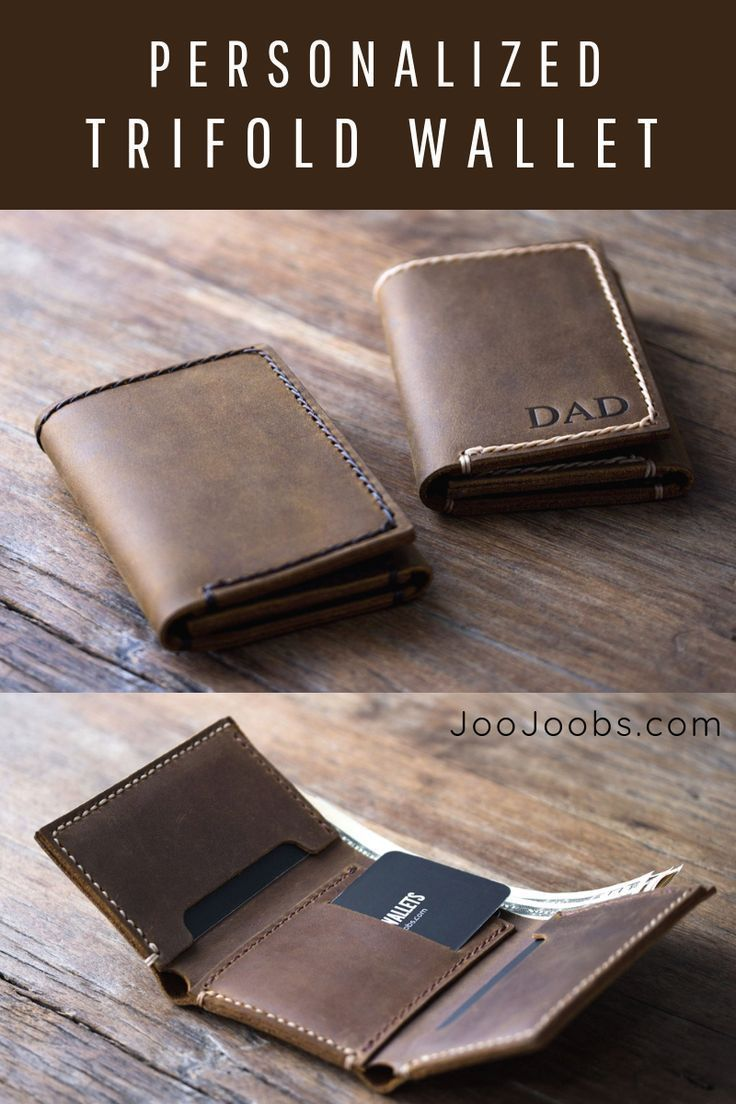 c848fa3ca925 Personalized Mens Leather Trifold WalletHandmade Full Grain Distressed  Leather WalletLeather Products by the craftspeople at JooJoobsFull Grain  LeatherCOME ...