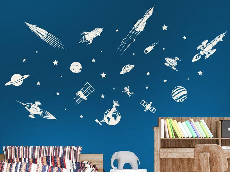 Beautiful F r die Astronauten und Entdecker von morgen und bermorgen Wandtattoo Raumfahrt Set