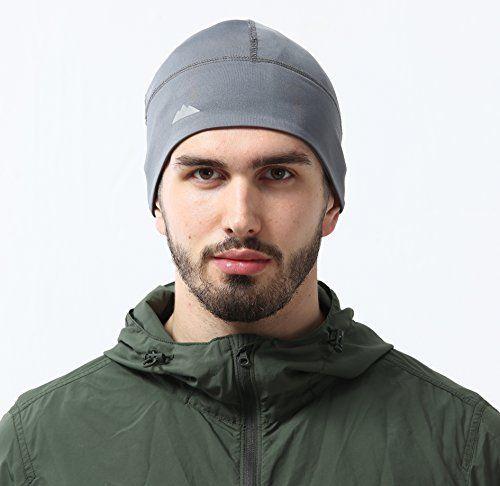 Skull Cap / Helmet Liner / Running Beanie - Ultimate Thermal Retention & Performance Moisture Wicking. Fits under Helmets - http://www.exercisejoy.com/skull-cap-helmet-liner-running-beanie-ultimate-thermal-retention-performance-moisture-wicking-fits-under-helmets/fitness/