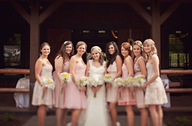 My wedding exactly. Different brides maid dresses, yellow flowers, and the bride is blonde... no big deal or anything.. :)