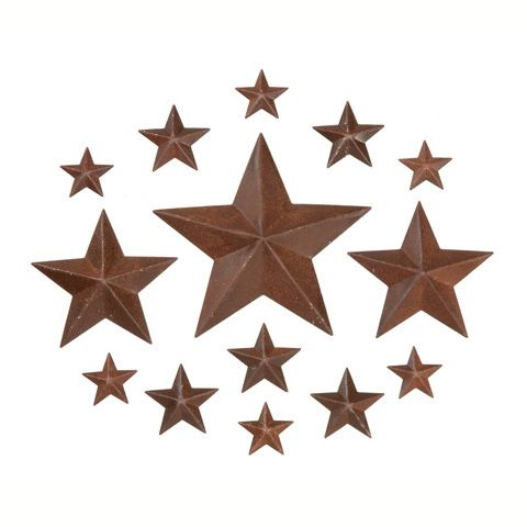 Rusted Tin Stars-Asst Size
