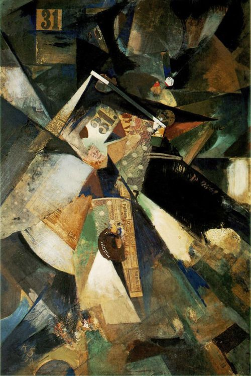 peira:    ronulicny:  Kurt Schwitters: Merzpicture Thirty-One (1920)