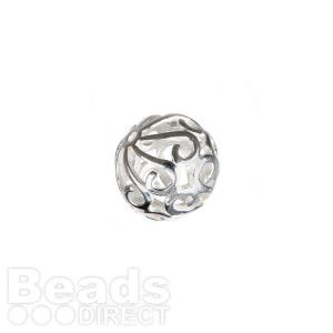 Sterling Silver 925 Filigree Round Bead 7mm Pk1