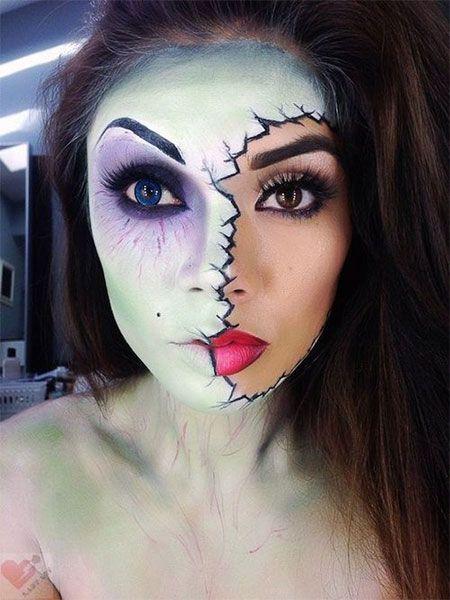 Najlepšie Halloween Half Face Zuby Mouth