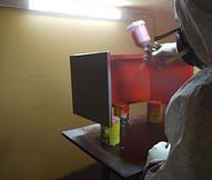 Βαφή μηχανής espresso Bianchi Sara σε κόκκινο glossy διπλής