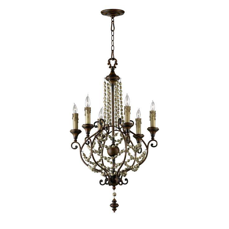 11 best cyan lighting images on pinterest ceiling lamps ceiling cyan design 03011 6 light meriel chandelier antiqued sienna h 38 x 23 aloadofball Image collections