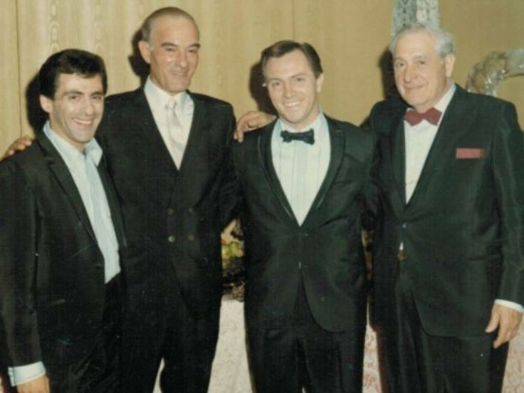 "JERSEY BOYS. Singer Frankie Valli, mobster John ""Big Pussy"" Russo, Singer Tommy DeVito and mob legend ""Richie the Boot"" Boiardo. Both mobsters were poweful members of the Genovese family."