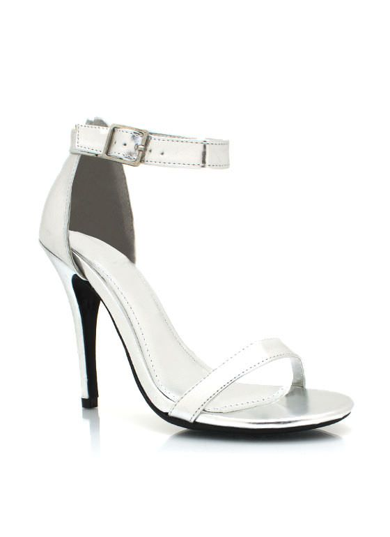 METALLIC ANKLE STRAP HEELS $20.00 Perfect Bridesmaid Shoe! Affordable and they can actually wear them again.