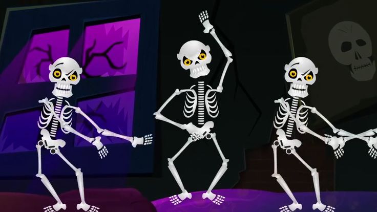 Five Little Skeletons Jumping On The Bed | Nursery Rhymes For Kids