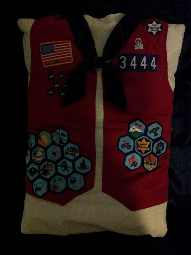 My daughters American Heritage Girls Tenderheart vest, now ...