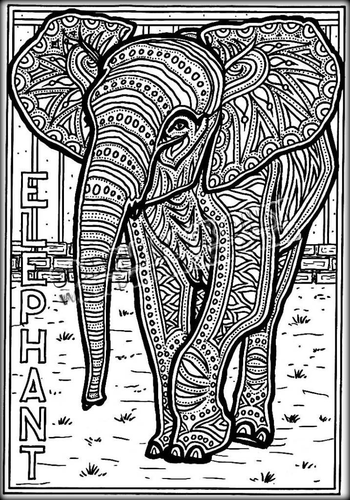 Colouring Pages For Adults Nz : Best elephant coloring pages for adults images on