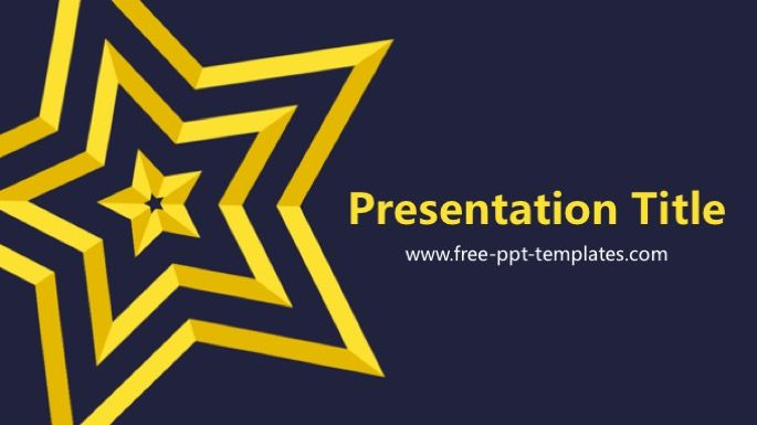 Star Powerpoint Template Free Ppt Template Templates Ppt