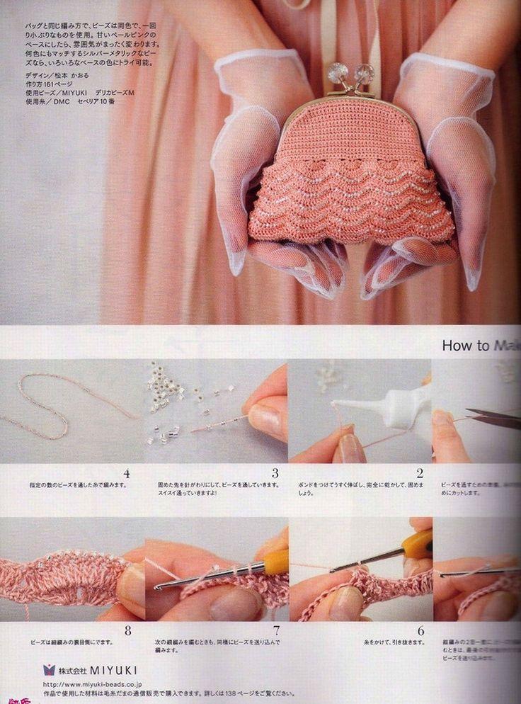 Pattern & Tutorial: Beaded Crochet Purse. http://media-cache-ec0.pinimg.com/originals/d4/c6/1a/d4c61a356e06448c1124778ebdfc9e34.jpg http://img0.liveinternet.ru/images/attach/c/7/95/84/95084488_bag2001.jpg