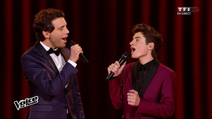 "Mika and David Thibault singing ""Your Song"" on The Voice"