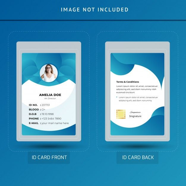 Professional Id Card Template Id Card Template Graphic Design Business Card Card Template