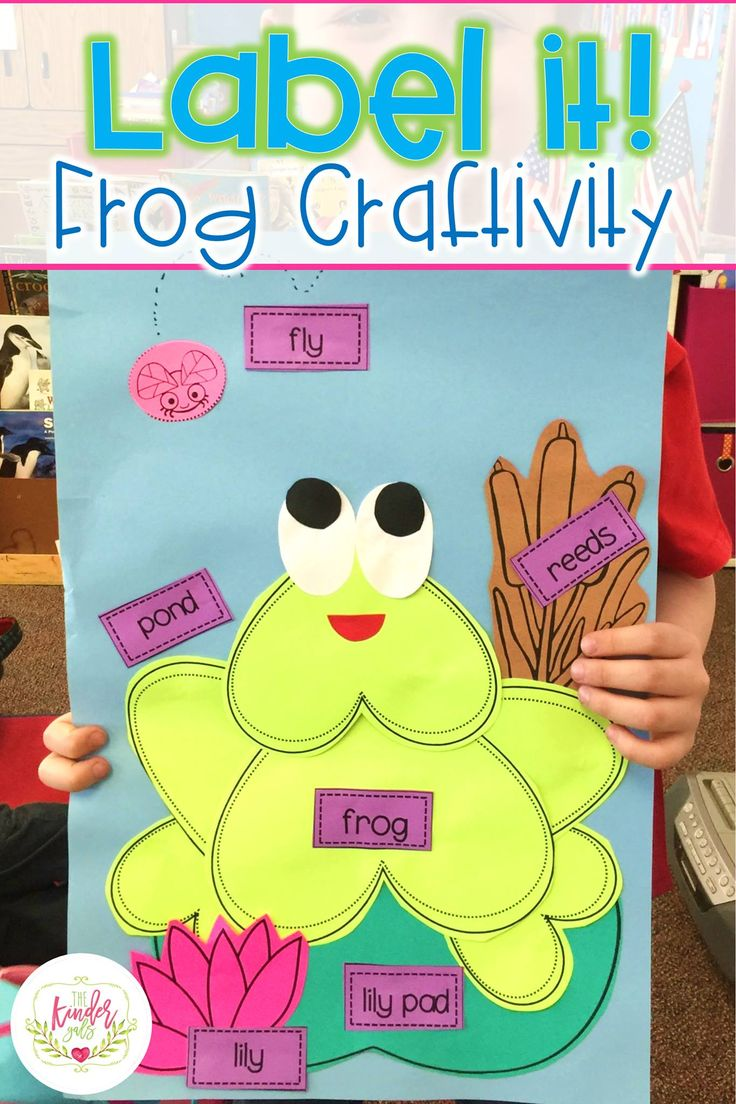 Spring Label It Activities - includes this cute frog craftivity for kindergarten!