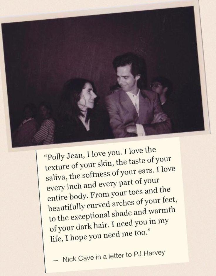 A letter from Nick Cave to PJ Harvey. brb crying