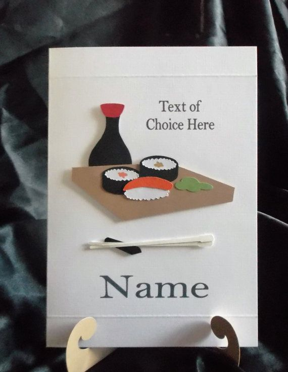 Sushi Birthday Card...Any Occasion...Personalised to your