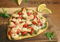 Shrimp Pesto Flatbread Pizza