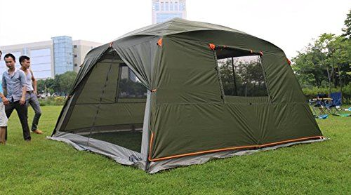 Outdoor Sports 5-8 People Large Beach Canopy UV Protection Sun Shade Shelter POP UP Pergola Gazebo Waterproof Camping Fishing Festival Screen Tents Awning (Canopy with Green Rainfly). For product & price info go to:  https://all4hiking.com/products/outdoor-sports-5-8-people-large-beach-canopy-uv-protection-sun-shade-shelter-pop-up-pergola-gazebo-waterproof-camping-fishing-festival-screen-tents-awning-canopy-with-green-rainfly/