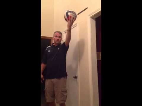 Volleyball Home Drill - Serving - YouTube