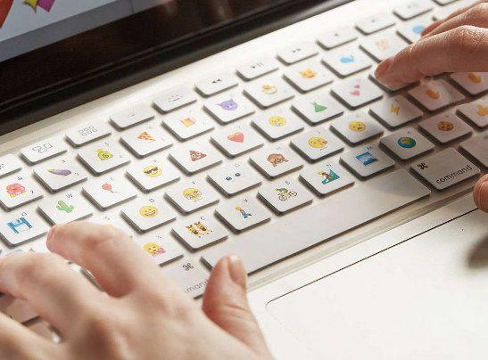 An emoji keyboard for your laptop, because just texting emojis isn't enough.