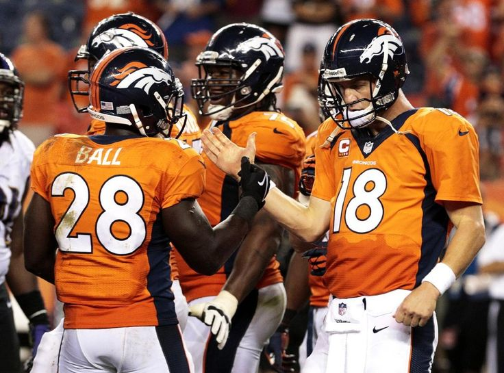 DENVER (AP) — Peyton Manning has four MVP trophies, a Super Bowl ring and countless NFL records.  He'd never had a night like this, though.  Manning threw seven touchdown passes in directing Denver to a 49-27 rout