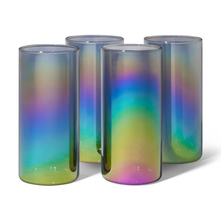 Rainbow Kitchen Decor: Shimmerware High Glasses In 2019