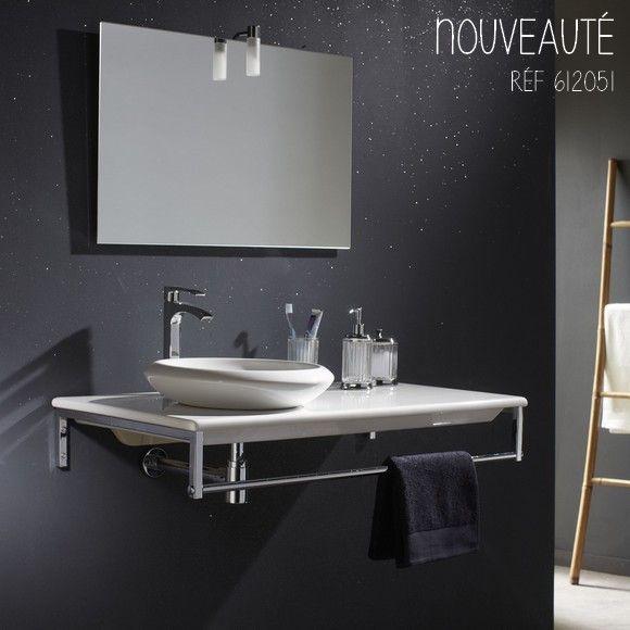 Cette console suspendue a tout pour elle, style, touche moderne, fonctionnalité !  #planetebain #salledebain #vasque