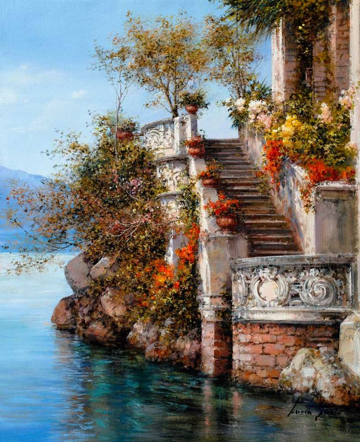 Lucia Sarto | Italian Romantic Impressionist painter L'angolo_dei_ricordi_50x60cm_olio_su_tela
