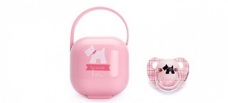 "SUAVINEX BOX FOR PACIFIER ""SCOTTISH"" PINK"