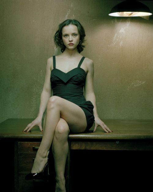 Christina Ricci sitting