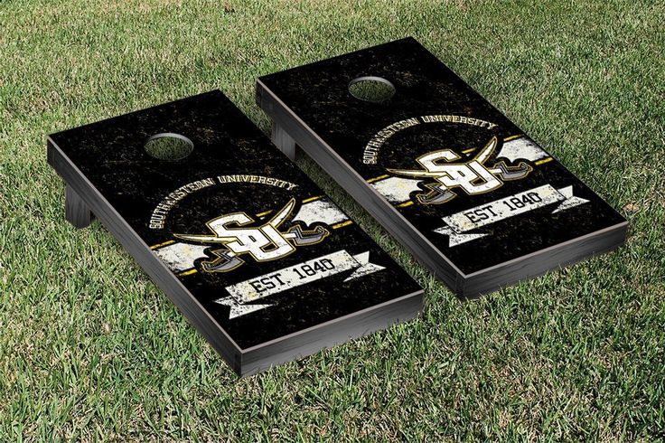 Southwestern University Pirates Rustic Established Banner Cornhole Game