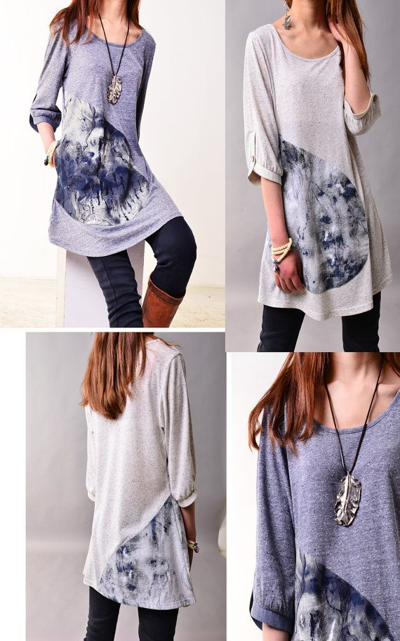 Drifting with cloud  zen tunic Y3115 by idea2lifestyle on Etsy, $48.00