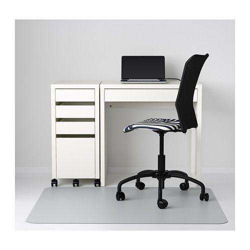 MICKE Desk IKEA It's easy to keep cords and cables out of sight but close at hand with the cable outlet at the back.  $49.99
